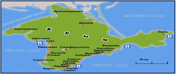 Карта схема: