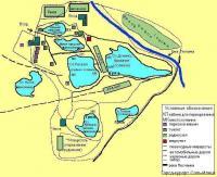 Схема расположения озер